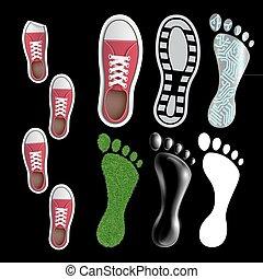 Set of footprints.