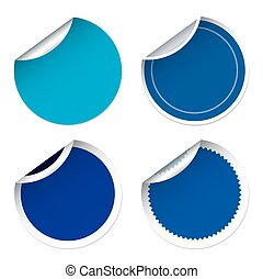 Set of for blue stickers