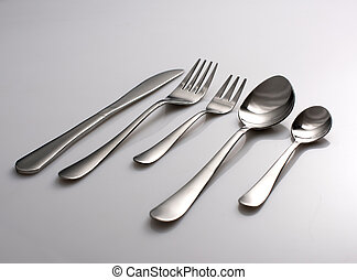 Set of fork, spoons and knife