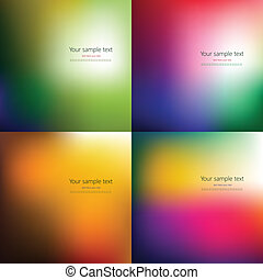 Set of four abstract colorful background with place for your...