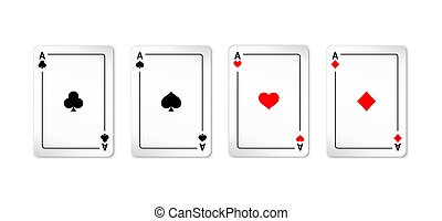 Set of four aces deck of cards
