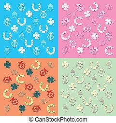 set of four backgrounds symbols