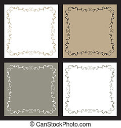 Set of four backgrounds.
