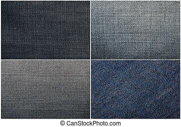 blue jeans - Set of four blue jeans texture