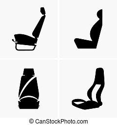 Car driver seat - Set of four Car driver seats