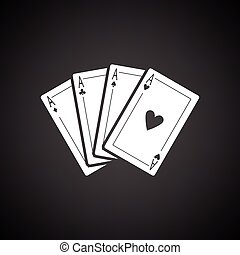 Set of four card icons
