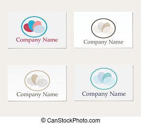 Set of four company logo