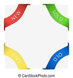 Set of Four Corner Labels