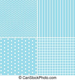 Set of four cute retro patterns