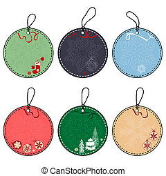 Set of Four Different Christmas Tags
