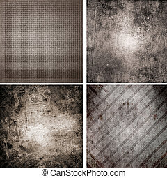 set of four different retro pattern backgrounds