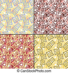 Set of four floral - vector set