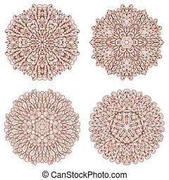 Set of four hand drawn patterns - Set of four hand drawn...