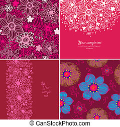 Set of four Happy valentines day backgrounds.