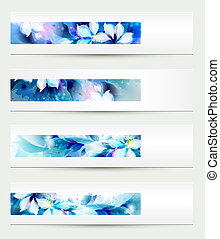 Set of four headers