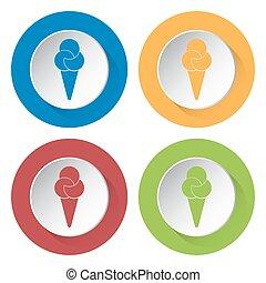 set of four icons - ice cream