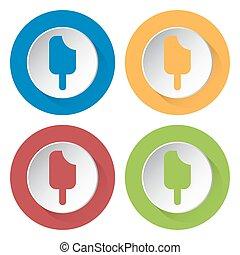 set of four icons - stick ice cream
