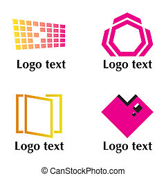 Set of four logo