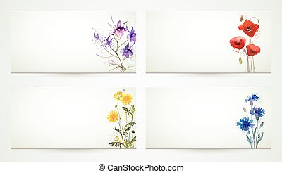 natures banners - set of four natures banners with ...