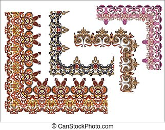set of four ornate corners border