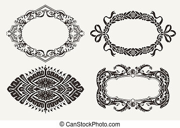 Set Of Four Ornate Frames