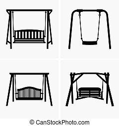 Porch swings - Set of four Porch swings