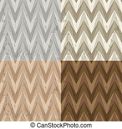 Set of Four Seamless Color Retro Vector Backgrounds