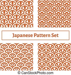 set of four seamless texture in the Japanese style