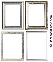set of four silver picture frames