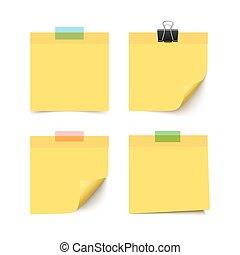 Set of four sticky notes
