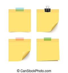 Set of four sticky notes