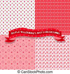 Set of four valentine patterns