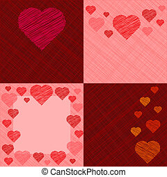 Set of four Valentine's Day Cards