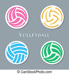 set-of-four-vector-volleyball-ball-abstract-labels
