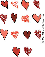 Set of Fourteen Hearts