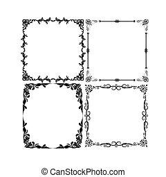 Set of Frames Decoration Vector
