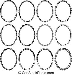 frames oval - set of frames oval