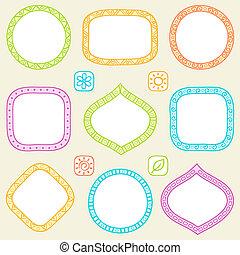 Set of frames. Vector illustration.