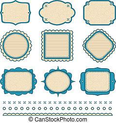 Set of frames.