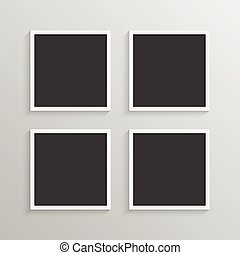Set of frames with a simple design for a background