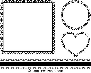 frames with hearts