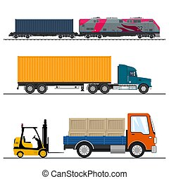 Set of Freight Transport - Set of Overland Freight...