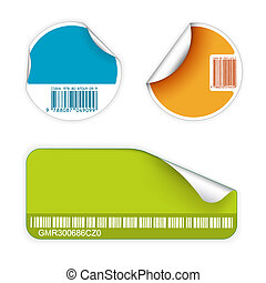 Set of fresh labels with bar codes (vivid colors) - see my ...
