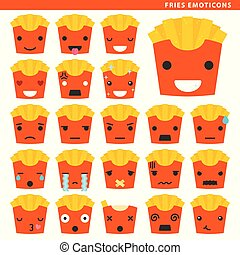 fries emoticons