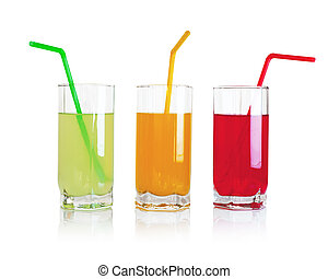 Set of fruit drinks