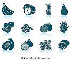 Set of fruit icons