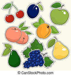 Set of Fruit Stickers