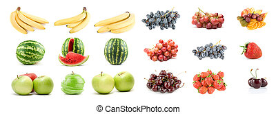 Set of fruits and vegetables