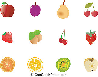 Set of fruits