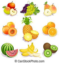 fruits - set of fruits icons